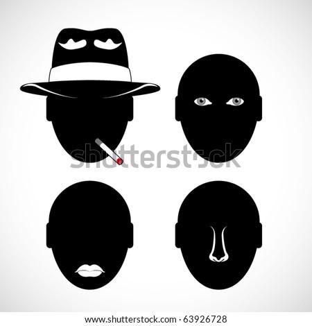 vector human head silhouette