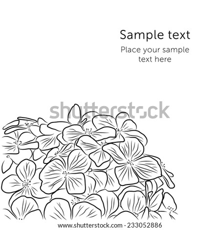 Vector Hydrangea flower bouquet