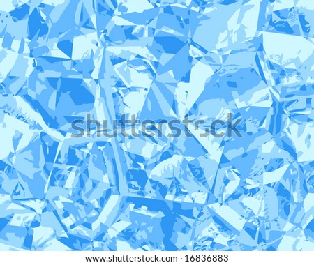 Vector Ice Blue Seamless Background, See Jpeg Also In My Portfolio