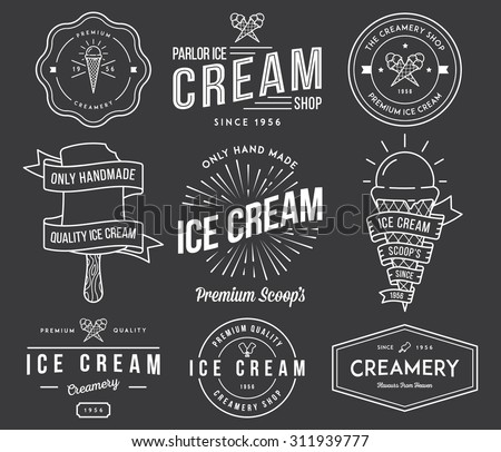 vector ice cream badges and...