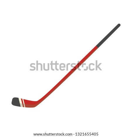 Vector ice hockey stick icon. Professional team sport equipment for outdoor leisure activity. Wooden tool for championships and club logos. Isolated illustration