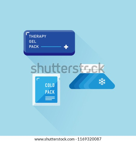 vector ice pack or hot pack / pain management concept / flat, isolated, sign and icon template Stock photo ©