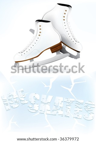 Vector ice skates background design