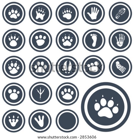 vector icon animal prints 1