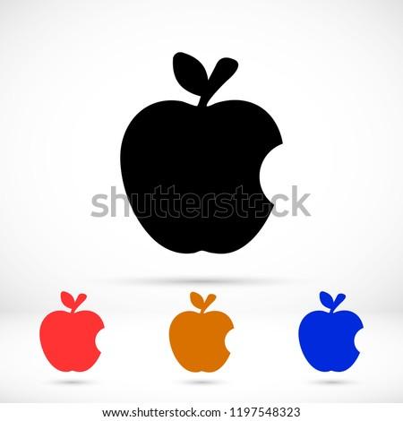vector icon apple 10 eps