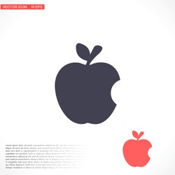 Vector icon Apple 10 EPS . Lorem Ipsum Illustration design