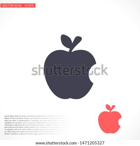 Vector icon Apple 10 EPS . Lorem Ipsum Illustration design
