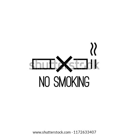 Vector icon are no Smoking. The symbol with the cigarette and the cross.