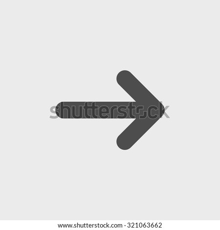 Vector icon arrow. Flat design style eps 10