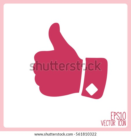 Vector icon, big finger,thumbs up icon.