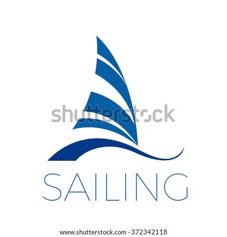 Vector icon boat, sailing and ship