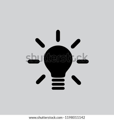 Vector icon bulb 10 EPS