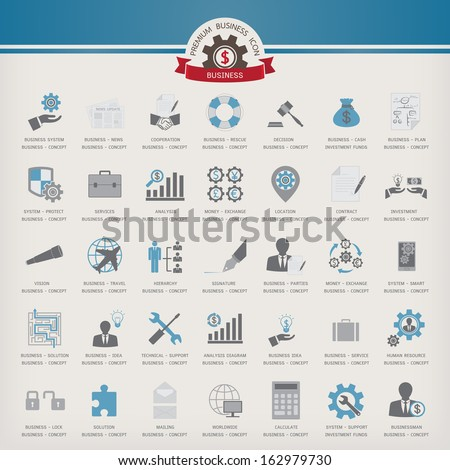 Vector Icon Business set