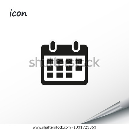 Vector icon calendar on a wrapped silver sheet