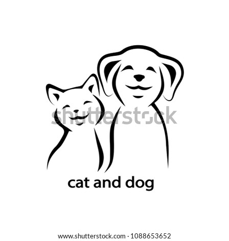 Vector icon cat and dog.
