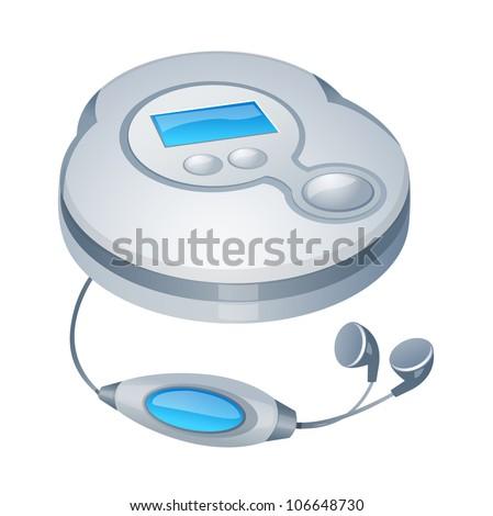 vector icon cd player
