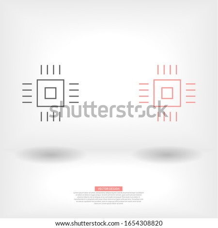 Vector icon chip 10 EPS . Lorem Ipsum Illustration design