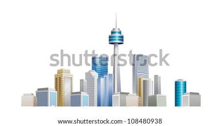 vector icon cityscape