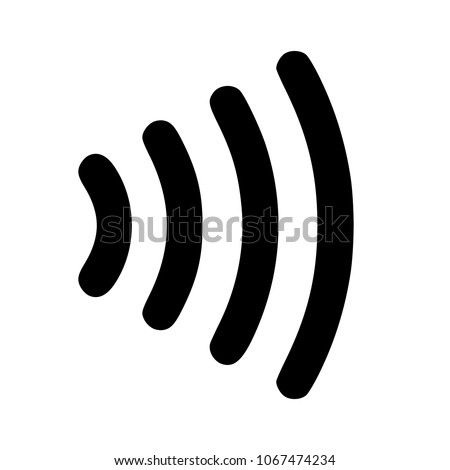 Vector icon contactless payment system
