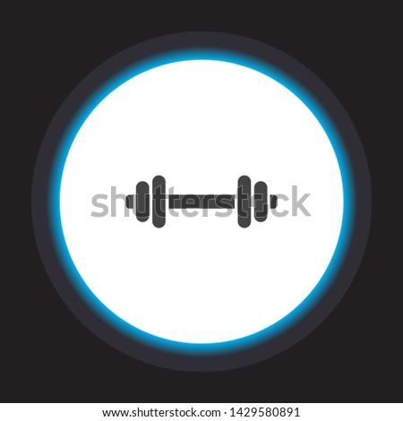 Vector icon dumbbell 10 EPS . Lorem Ipsum Illustration design