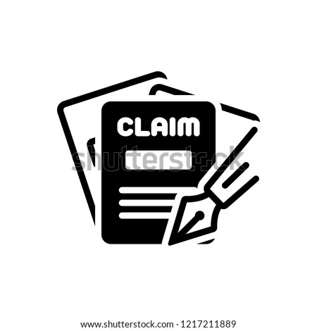 Vector icon for claims Photo stock ©