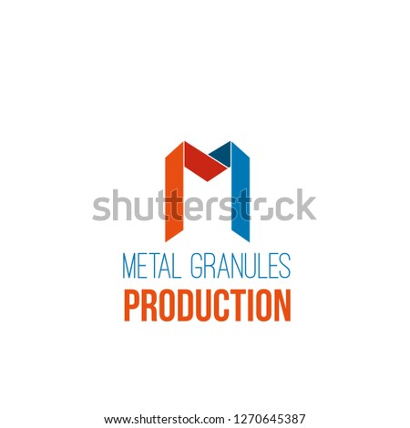 vector icon for metal granules