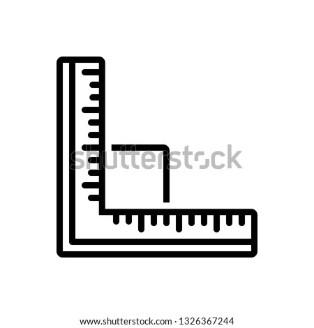 Vector icon for ruler