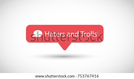 vector icon for trolling and