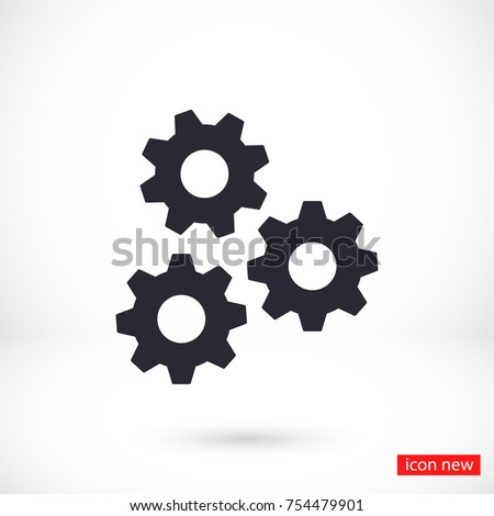 Vector icon gear mechanism 10 EPS