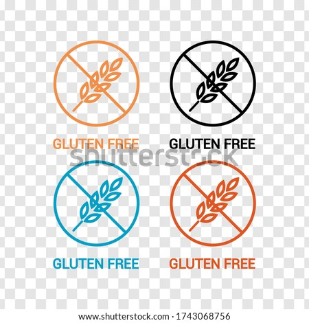 Vector icon. Gluten free product icon. Line icon. Transparent background Imagine de stoc ©