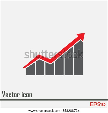 Vector icon growth diagram