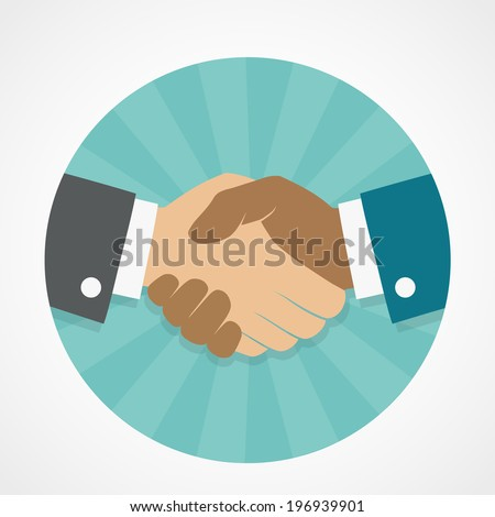 Vector icon handshake
