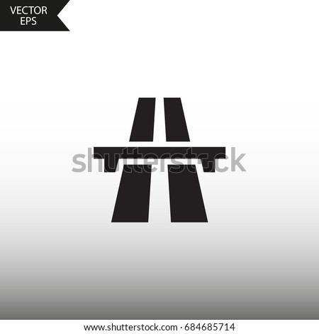 vector icon highway