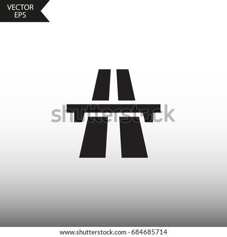 Vector icon highway