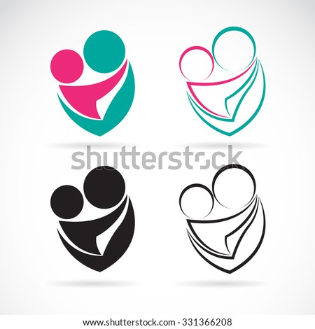 vector icon image of an mom and