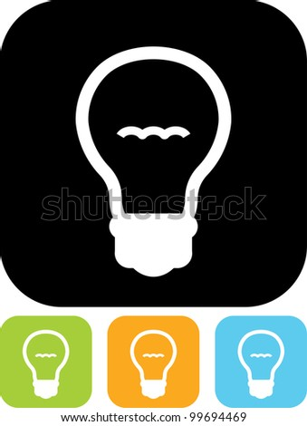 Vector icon isolated on white - Light bulb