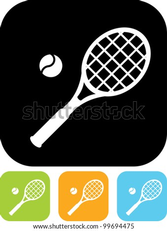 Vector icon isolated on white - Tennis equipment