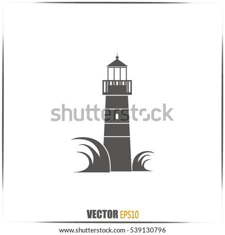 vector icon lighthouse