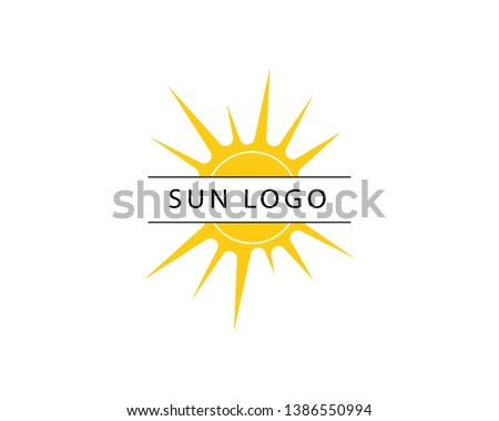 vector icon logo template sun