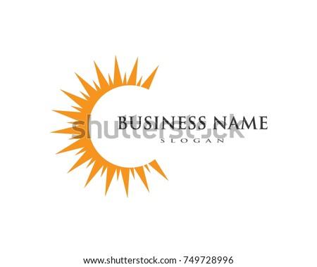 vector icon logo template sun