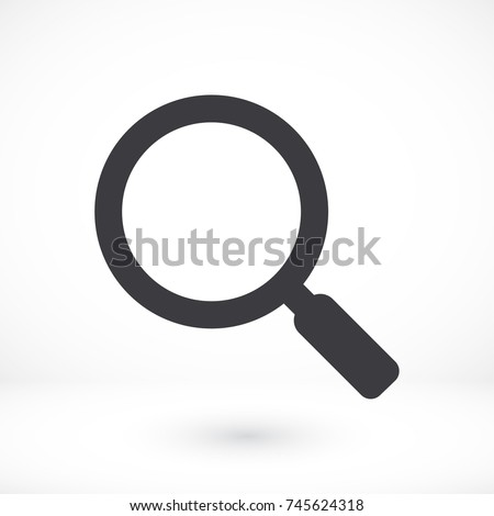 Vector icon magnifier 10 EPS