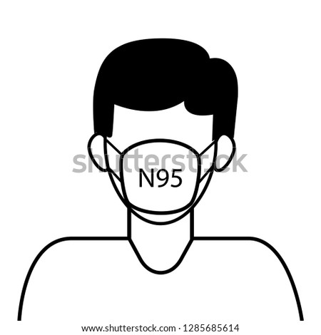 vector icon mask type n 95