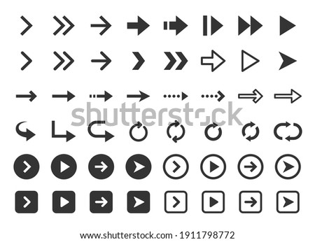 Vector icon material for various arrows.