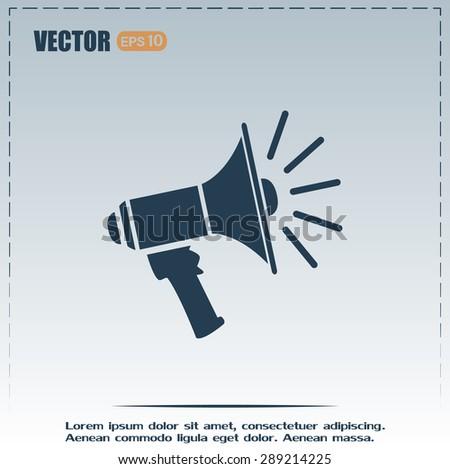 vector icon megaphone