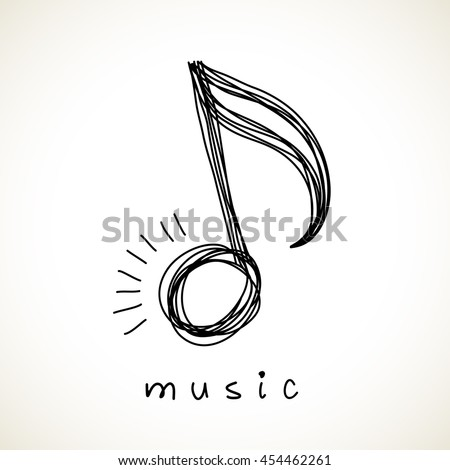 vector icon music note of