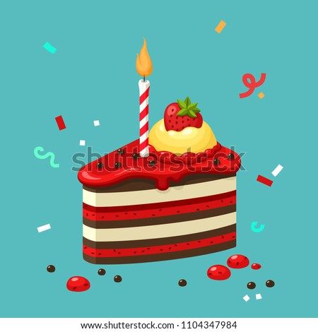 vector icon of a birthday cake