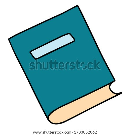 Vector icon of book, books, pile of books, paper book, e book, open book. Handdrawn black outline isolated on white background.  Doodle style.