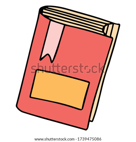 Vector icon of book, books, pile of books, paper book, electronic book, open book. Handdrawn black outline isolated on white background.  Doodle style.