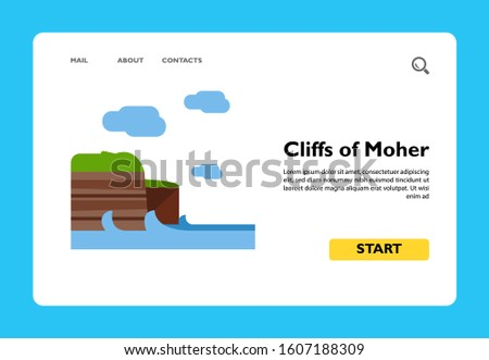 vector icon of cliffs of moher