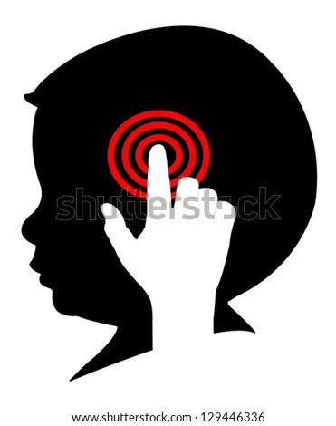 vector icon of control of human brain